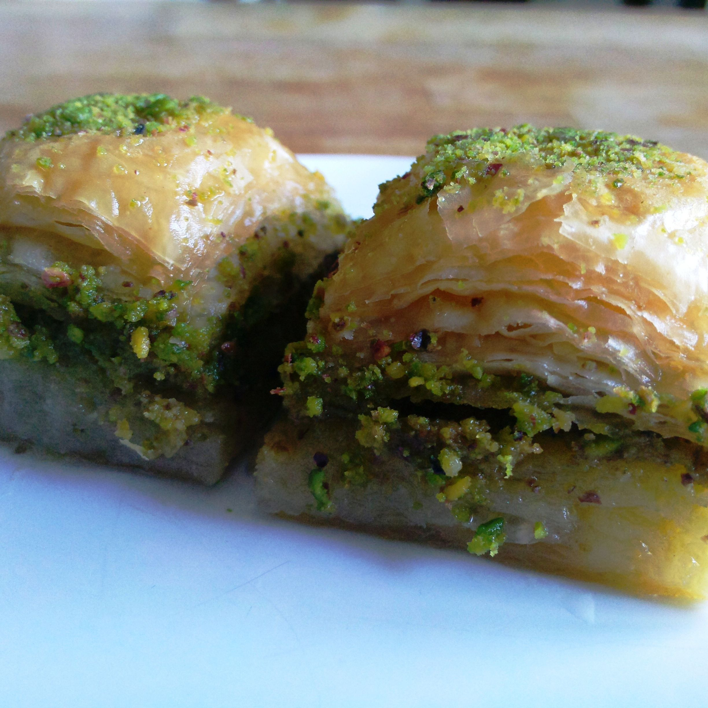 Homemade Pistachio Turkish Baklava Recipe