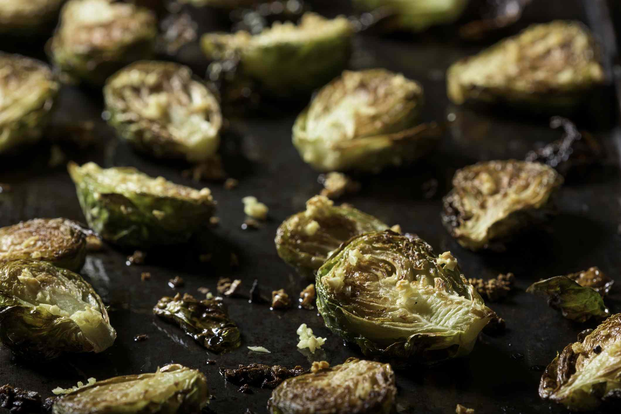 Browned Brussels sprouts