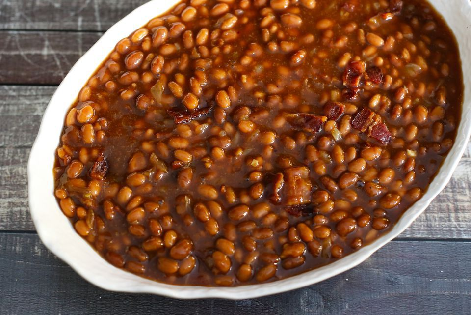 5-Ingredient Slow-Cooker Beans With Bacon