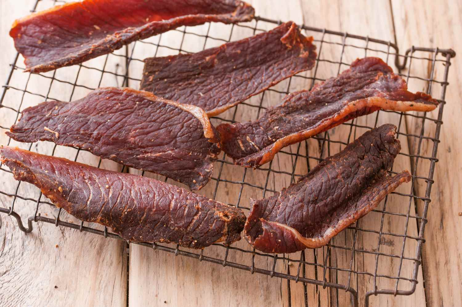 Heat beef strips and then air dry