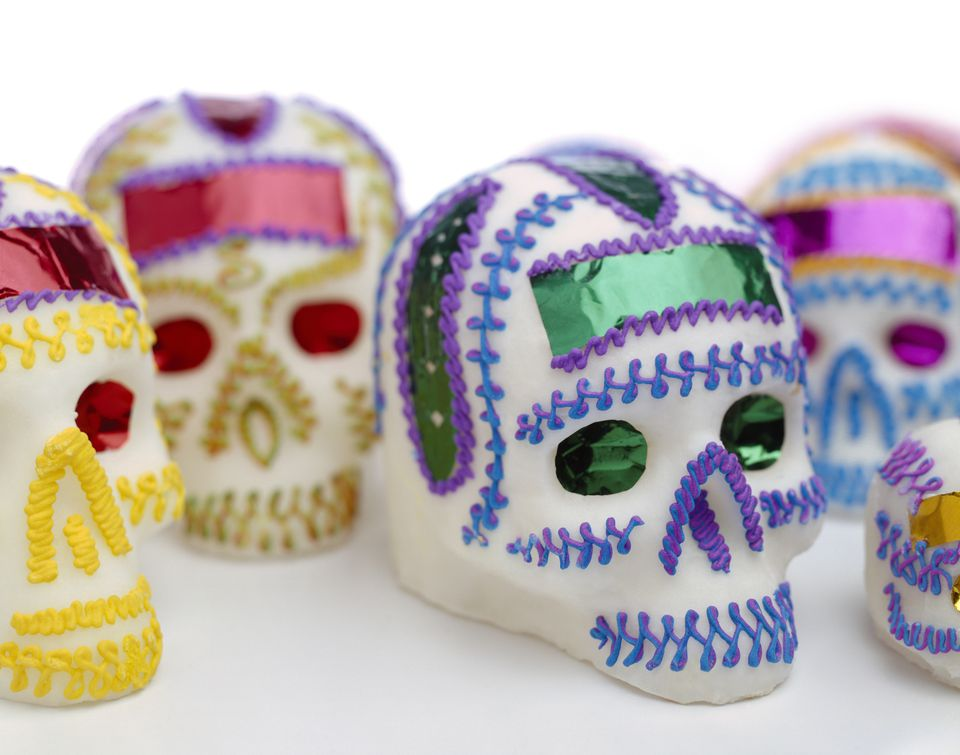 Mexican sugar skulls