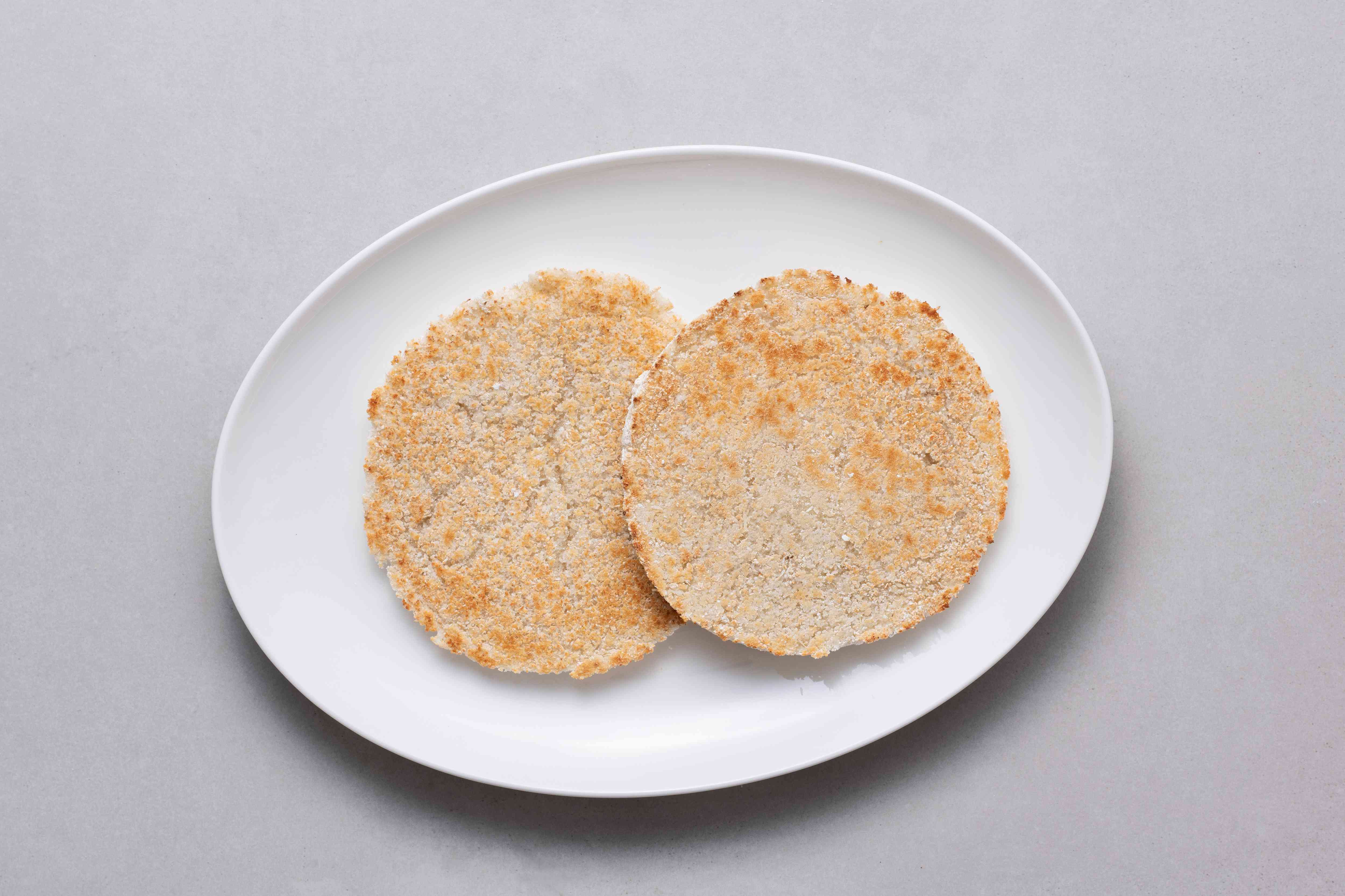 yucca cakes on a plate