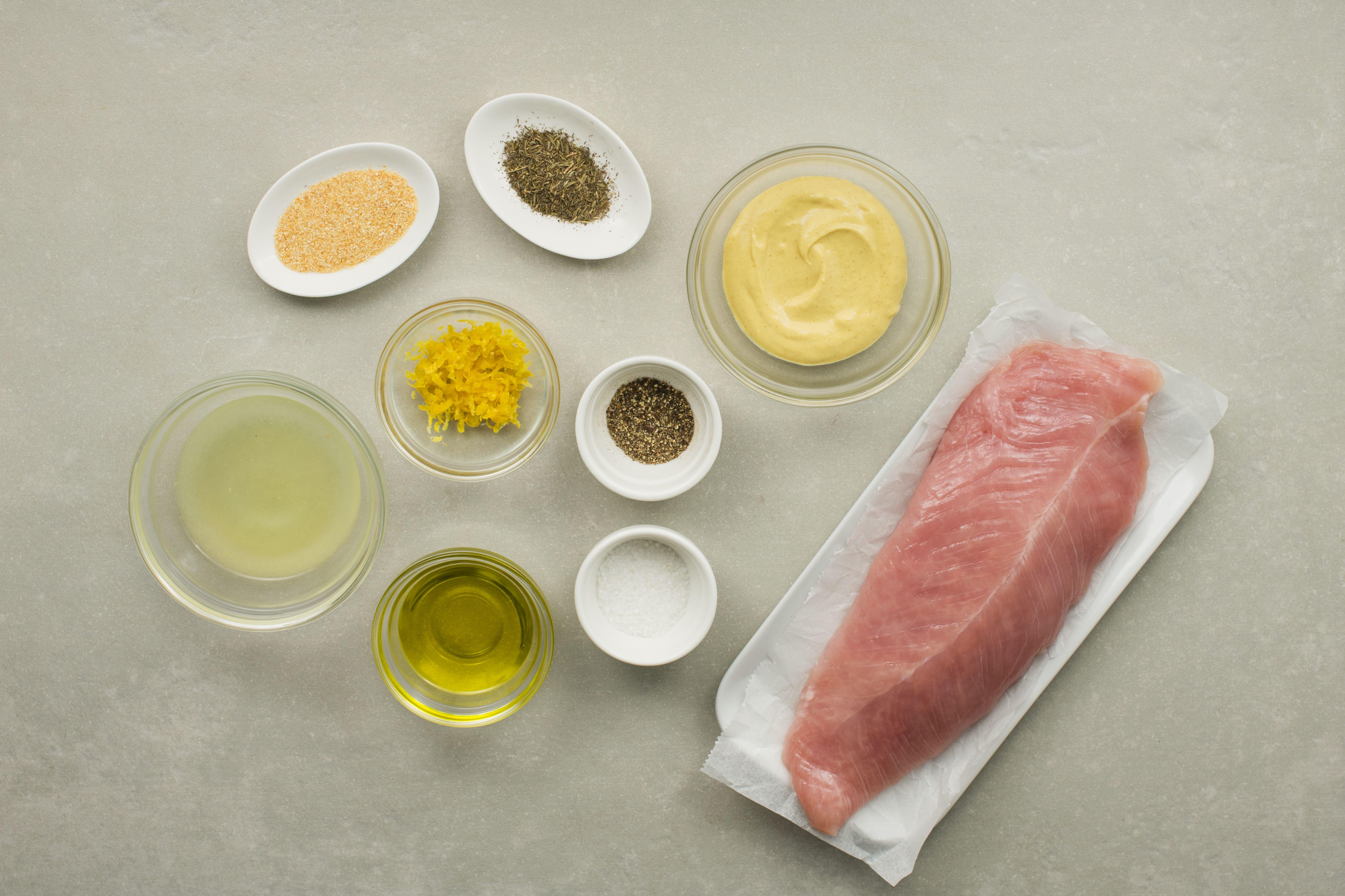 Ingredients for lemon turkey tenderloin