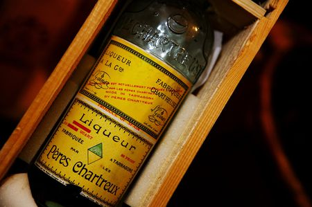 Liqueur Peres Chartreux Green And Yellow Known As Chartreuse