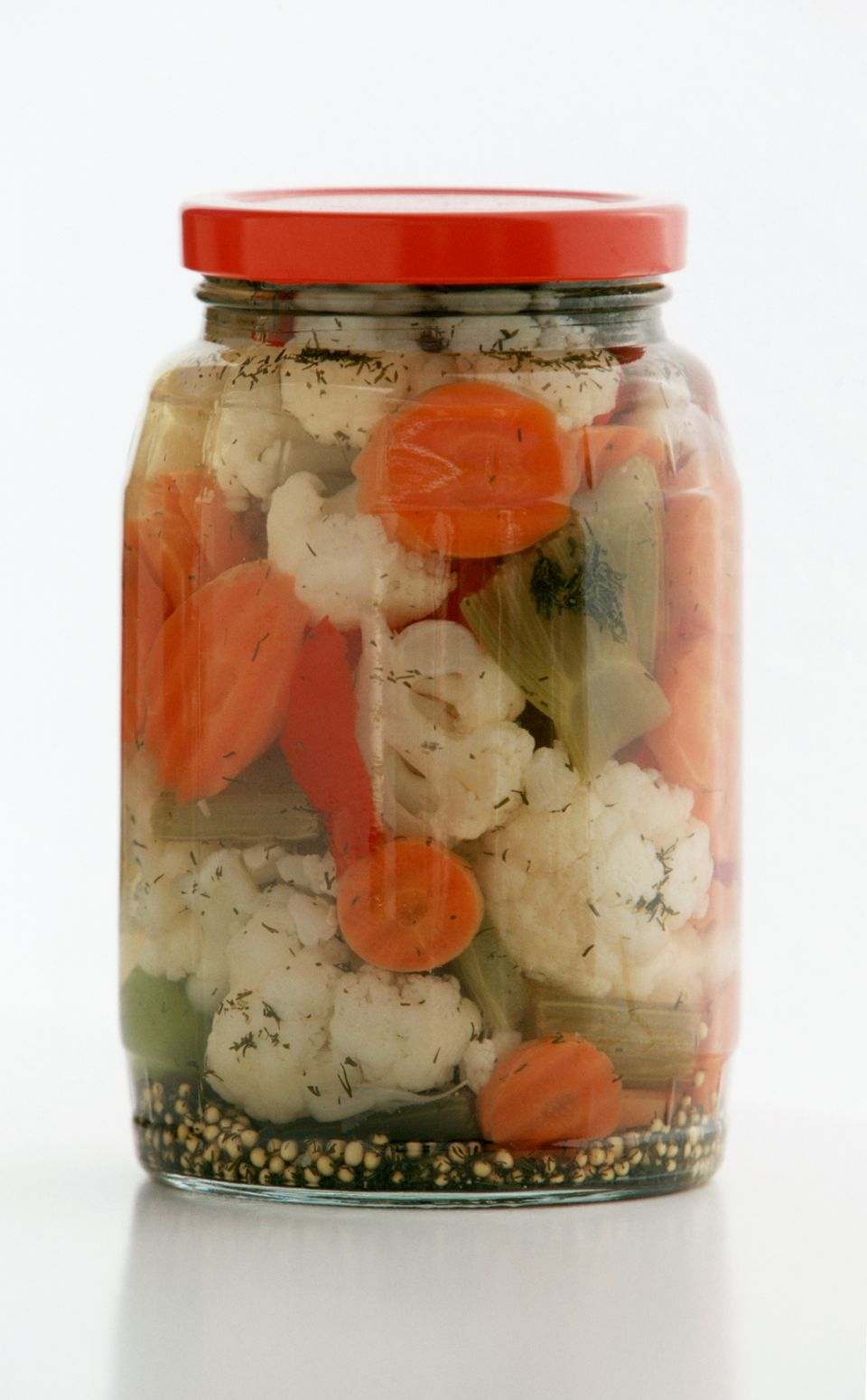 A jar of Giardiniera