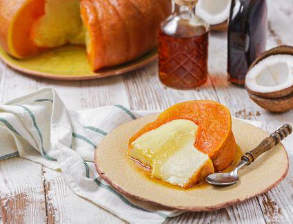 Thai coconut pumpkin custard