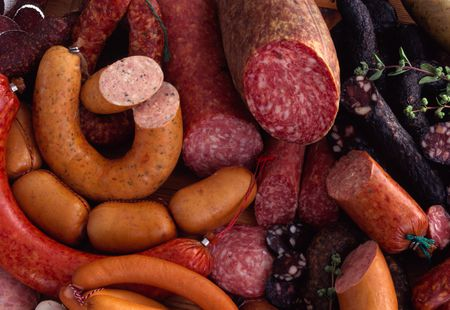 German sausage and salami