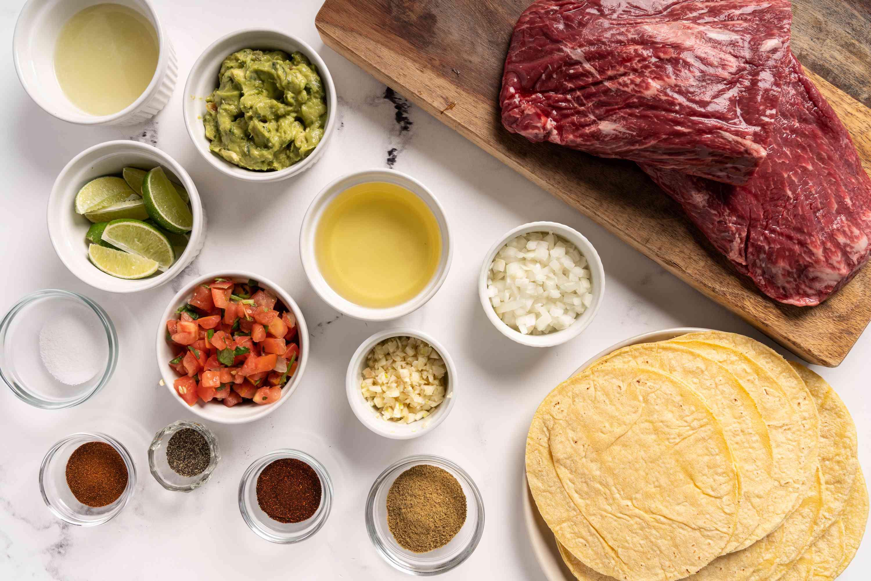 Flat-Iron Steak Tacos ingredients