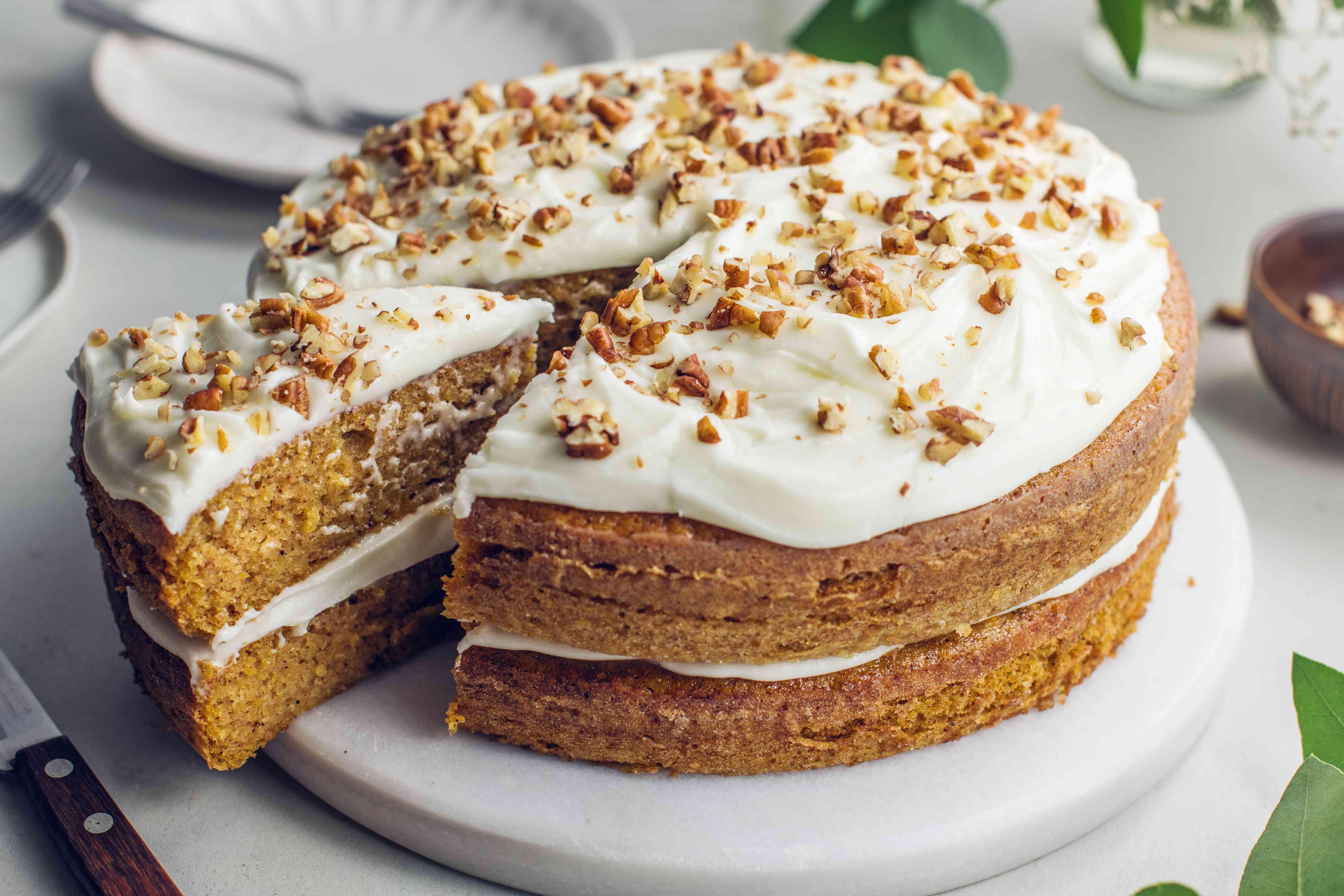 Pumpkin cake cream cheese frosting