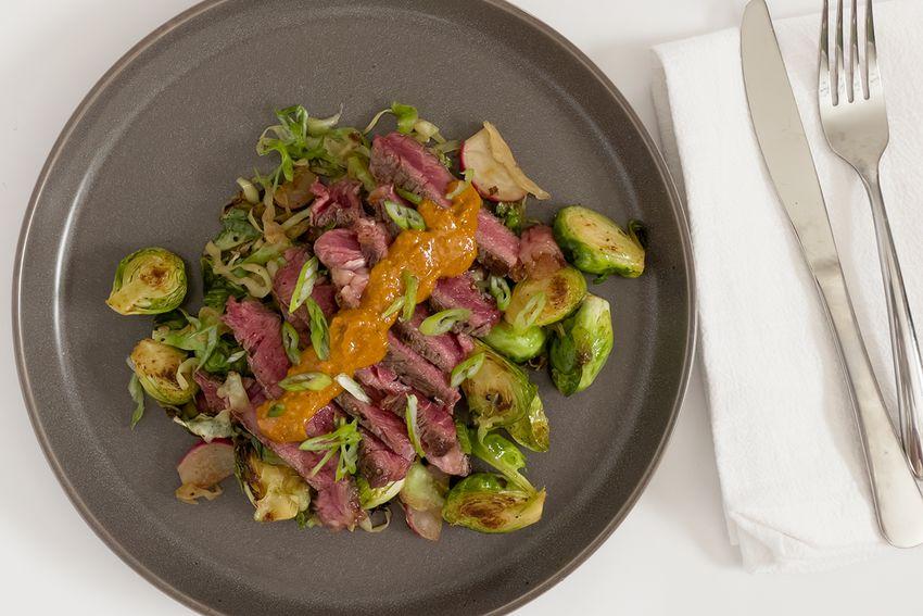 Sunbasket steak on plate