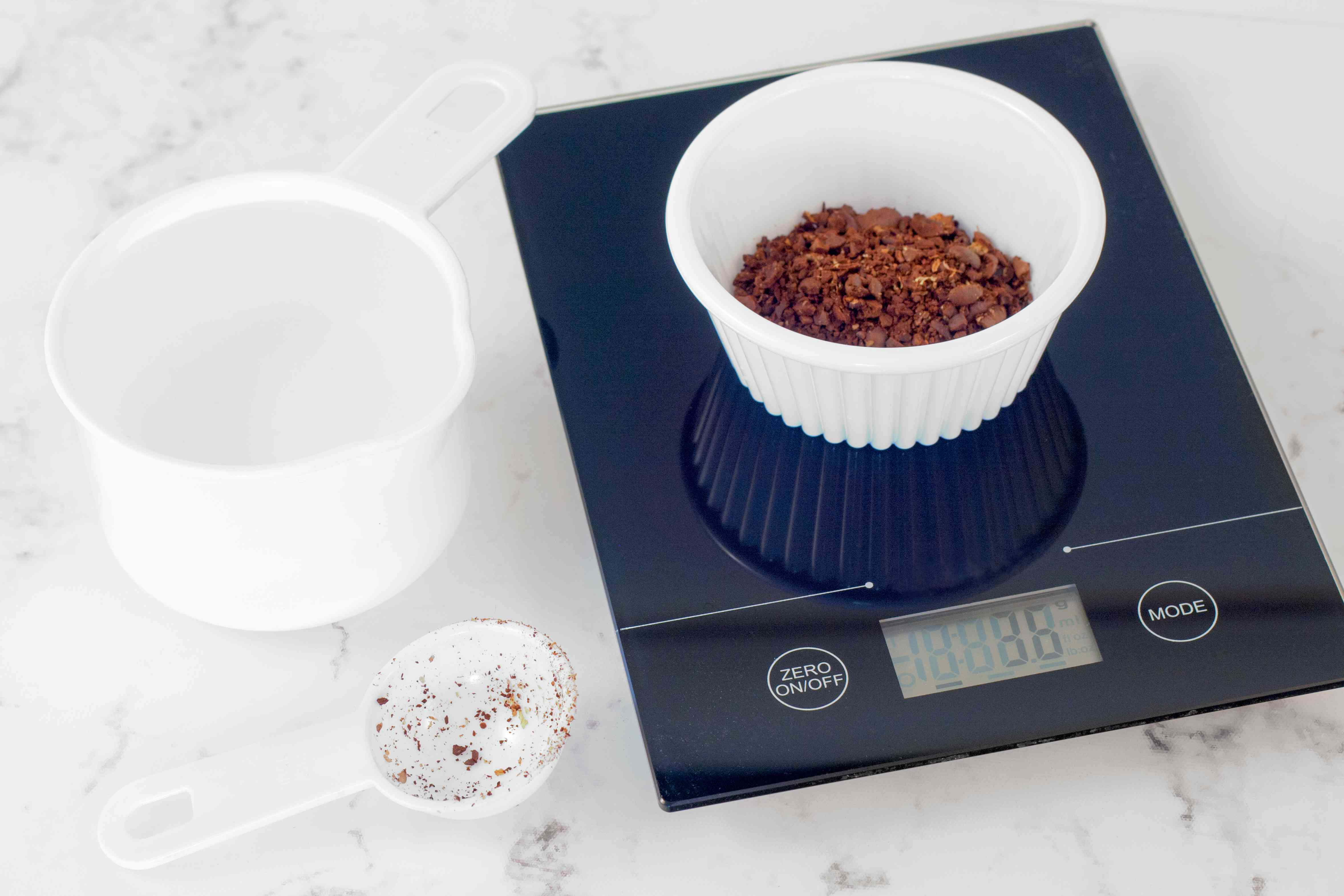 Measure Coffee on a Kitchen Scale