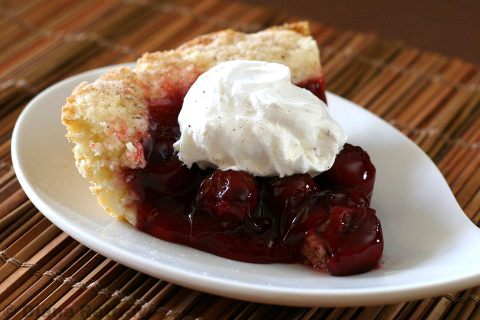 Easy Cobbler Crust Cherry Pie