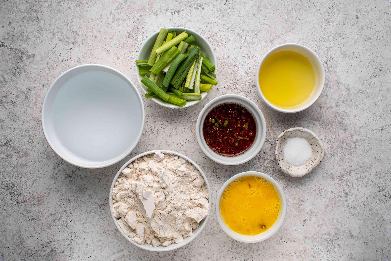 Ingredients for pa jun (Korean pancakes)