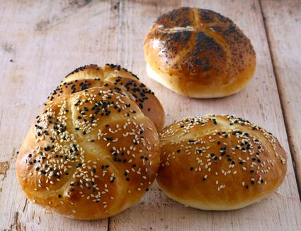 Homemade sandwich rolls for barbecue or burgers.