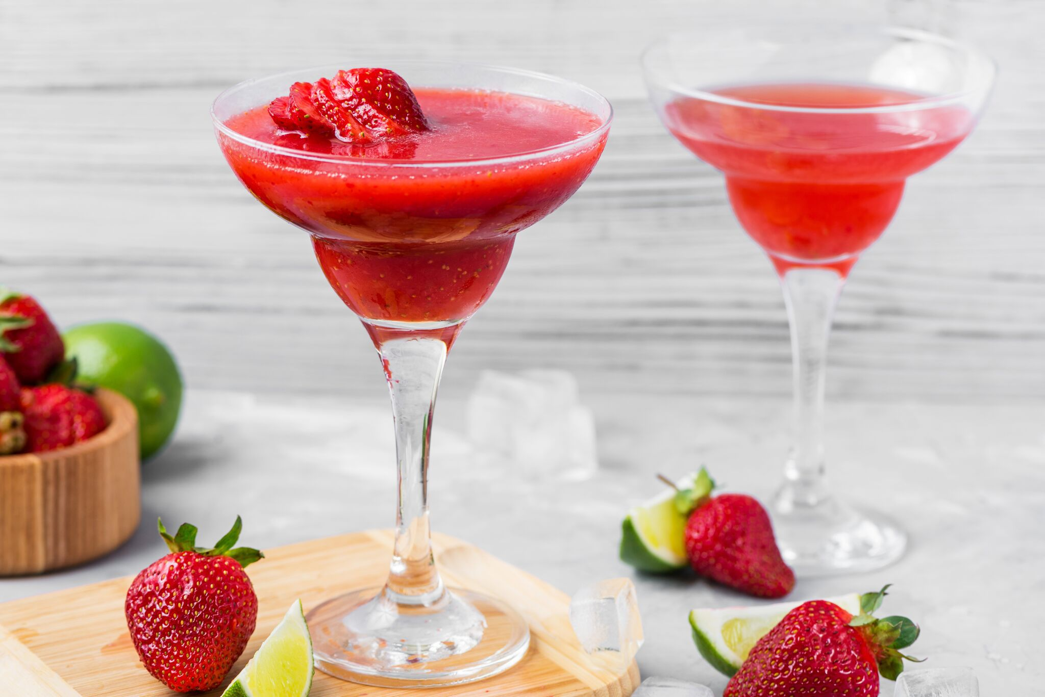 Frozen And Shaken Strawberry Daiquiri Recipes