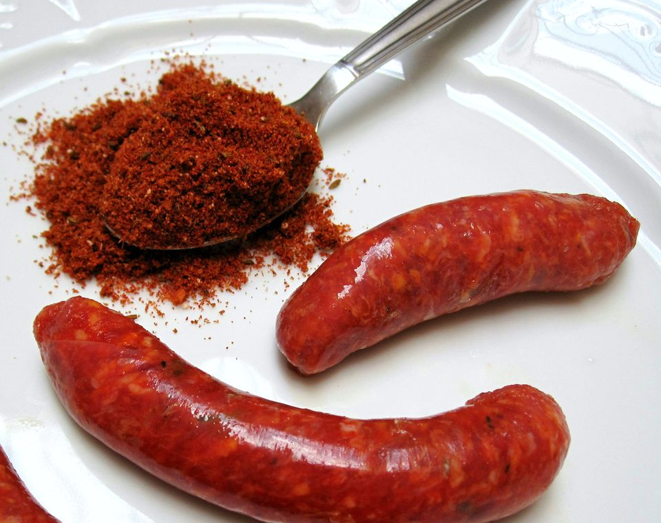Merguez spieces with Moroccan sausages