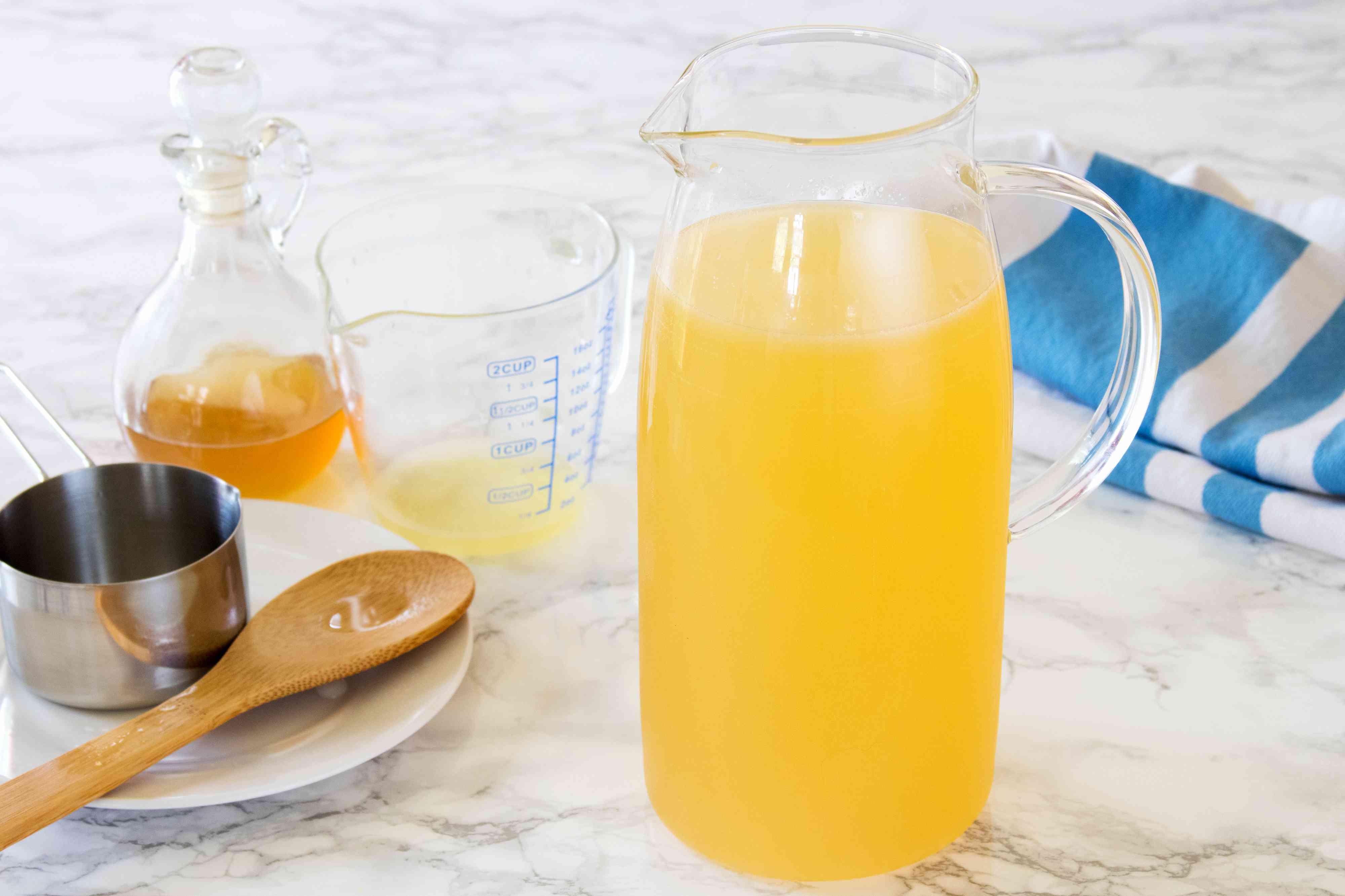 Mixing Lavender Lemonade