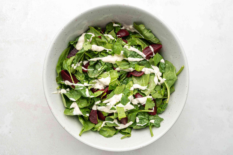 Moroccan Beetroot Salad With Yogurt Dressing