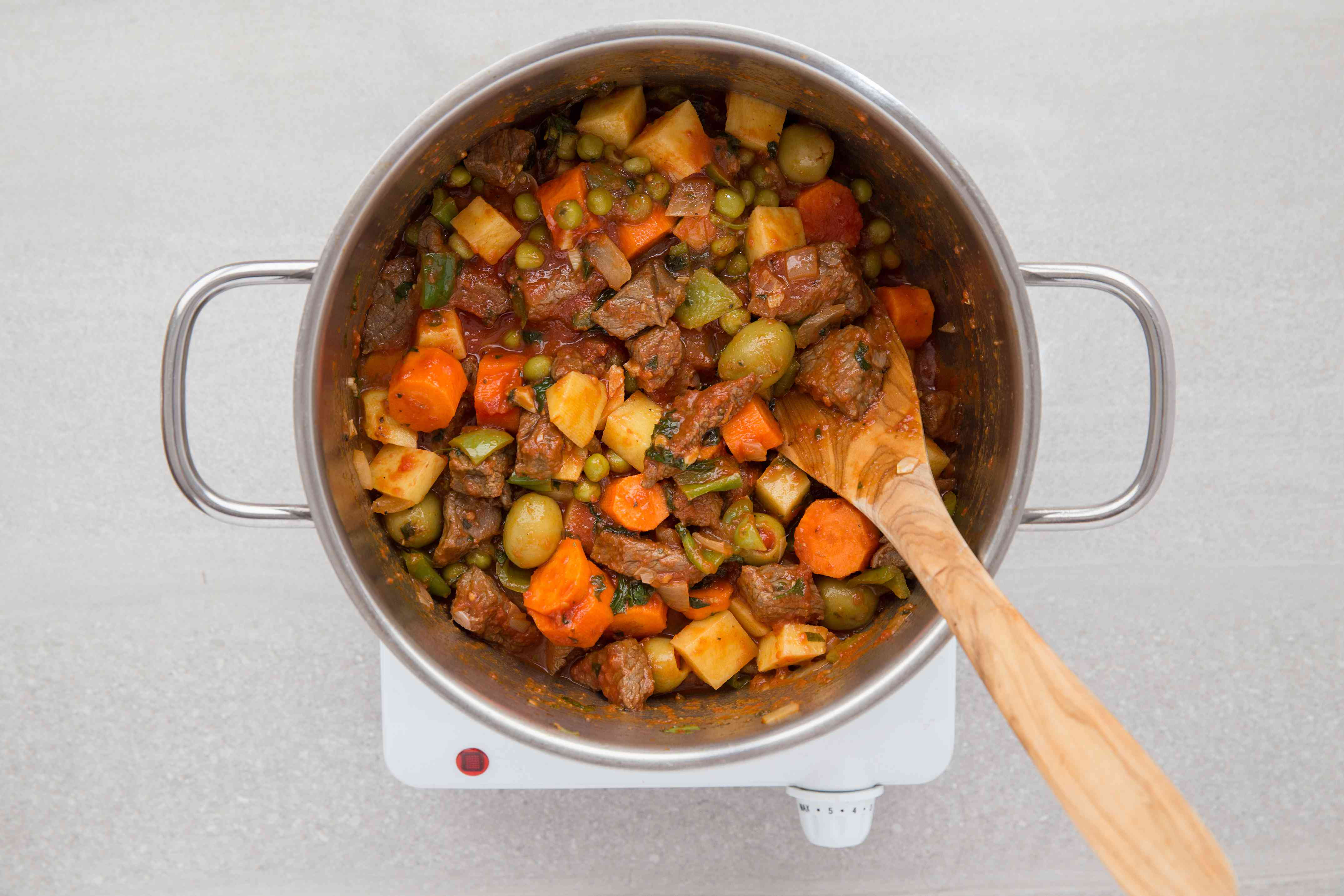 stew cooking in a pot