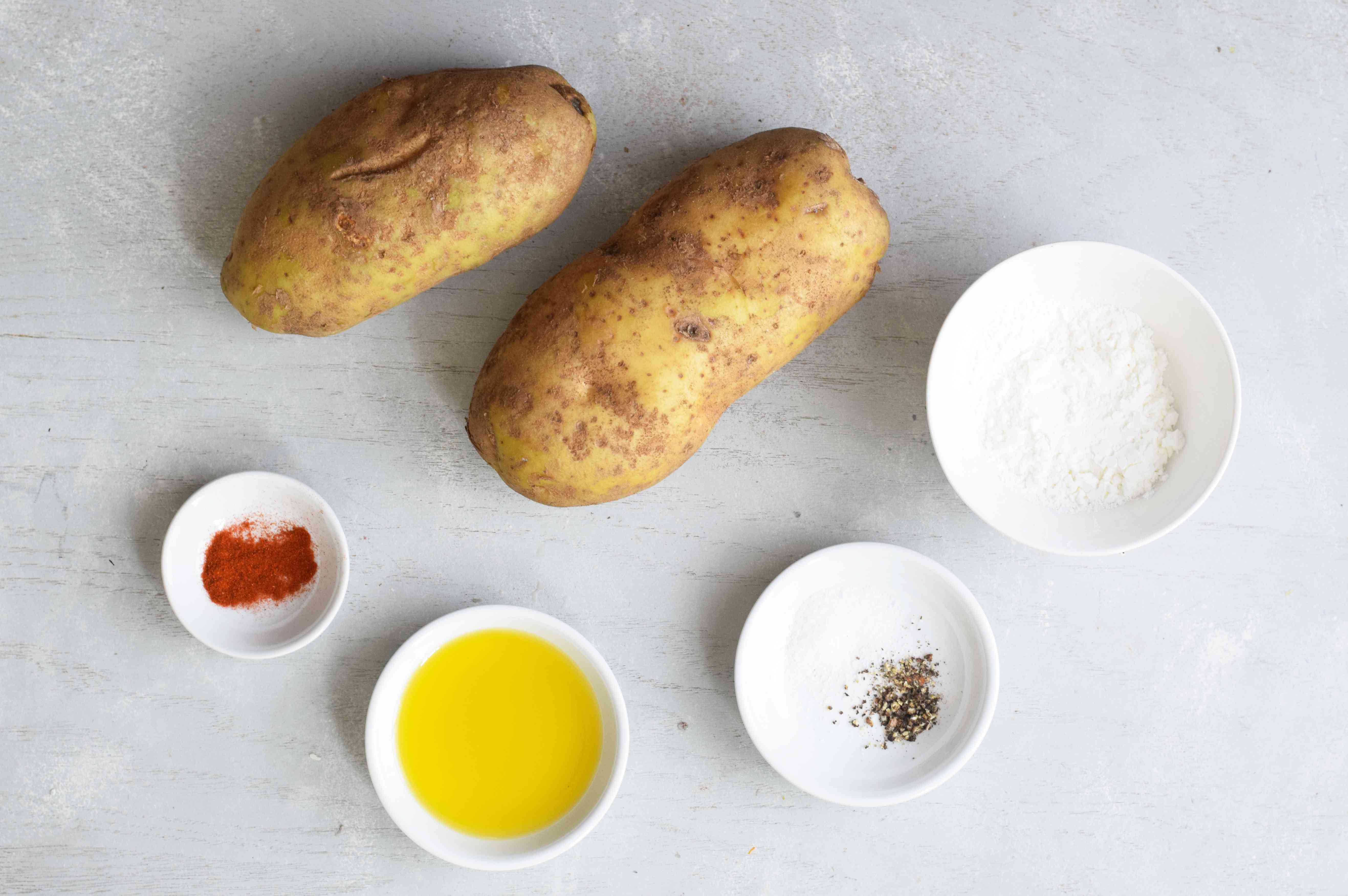 Gather the ingredients for Air Fryer French Fries
