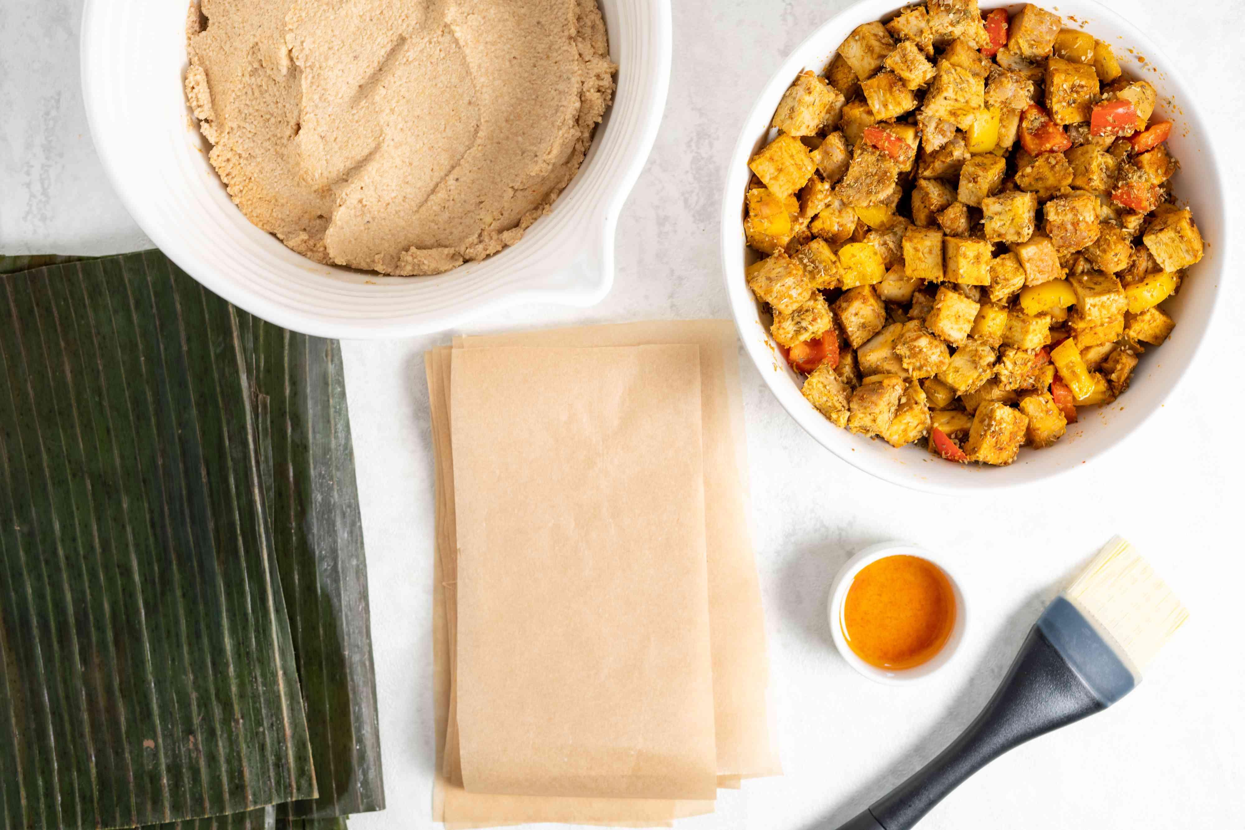 Puerto Rican Pasteles ingredients