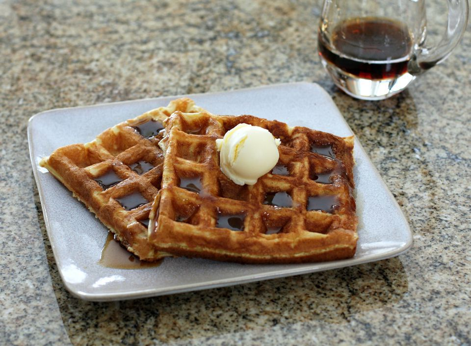 Peanut Butter Waffles or Pancakes