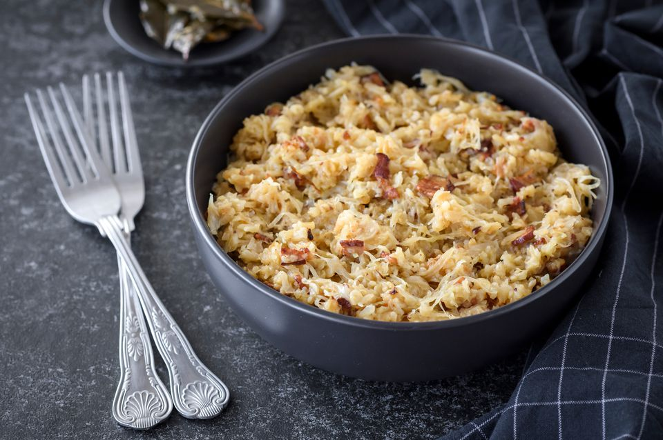 Serbian sauerkraut with bacon and rice recipe