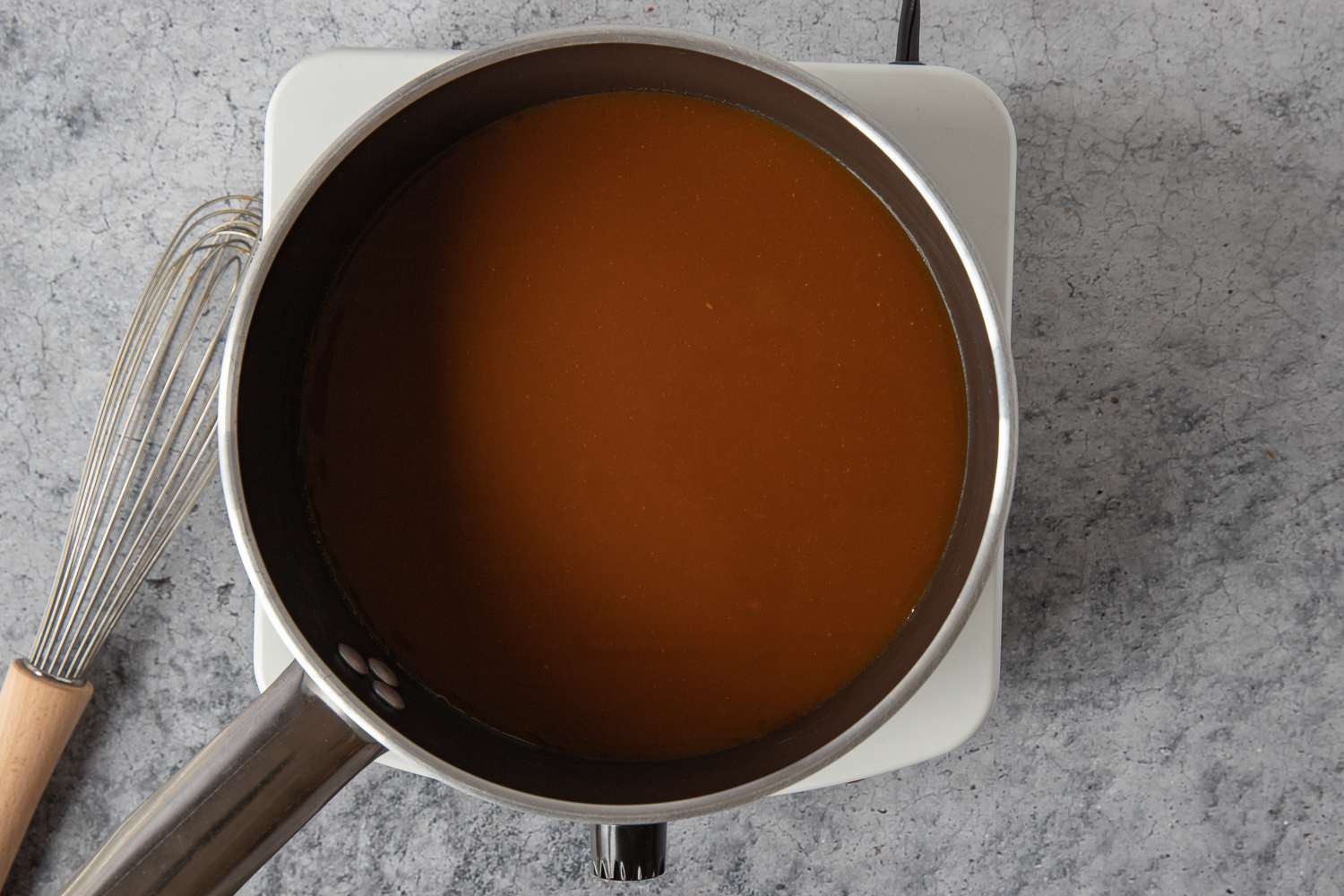 pan with demi-glace