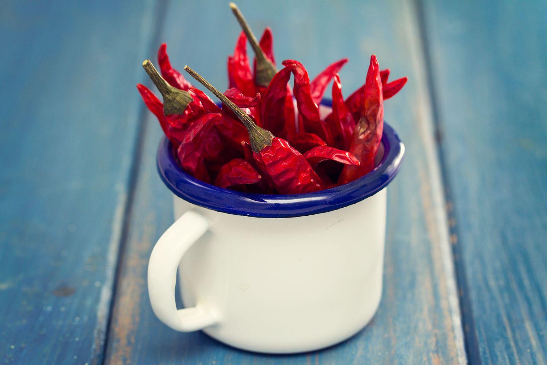 Pepper piri-piri in a cup