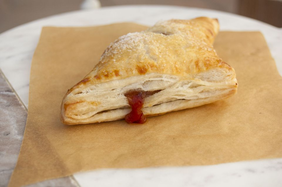 naturally sweetened apple turnover with homemade puff pastry