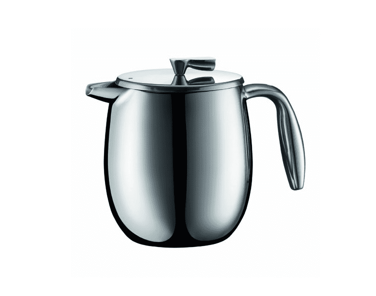 Bodum Columbia 11055-16 4-Cup Double Wall French Press Coffee Maker, 0.5 litre, 17-Ounce, Stainless Steel