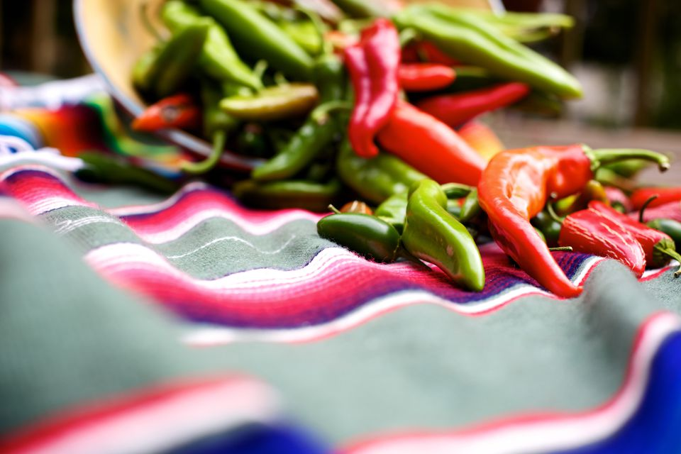 spicy vivid chili mexican peppers