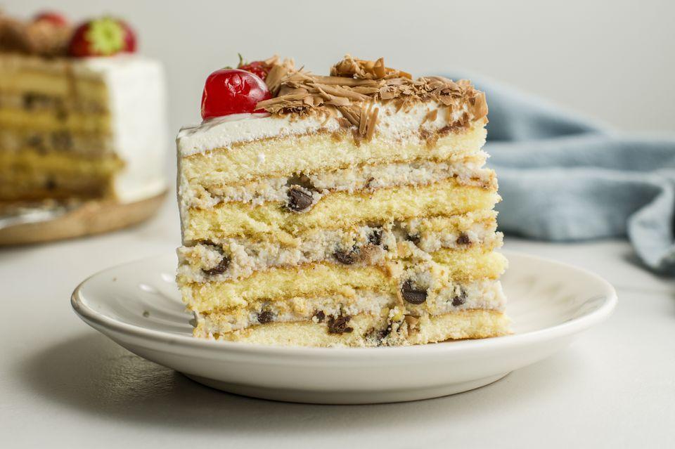 Italian ricotta cassata cake