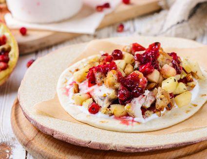 Thanksgiving leftovers pita wrap