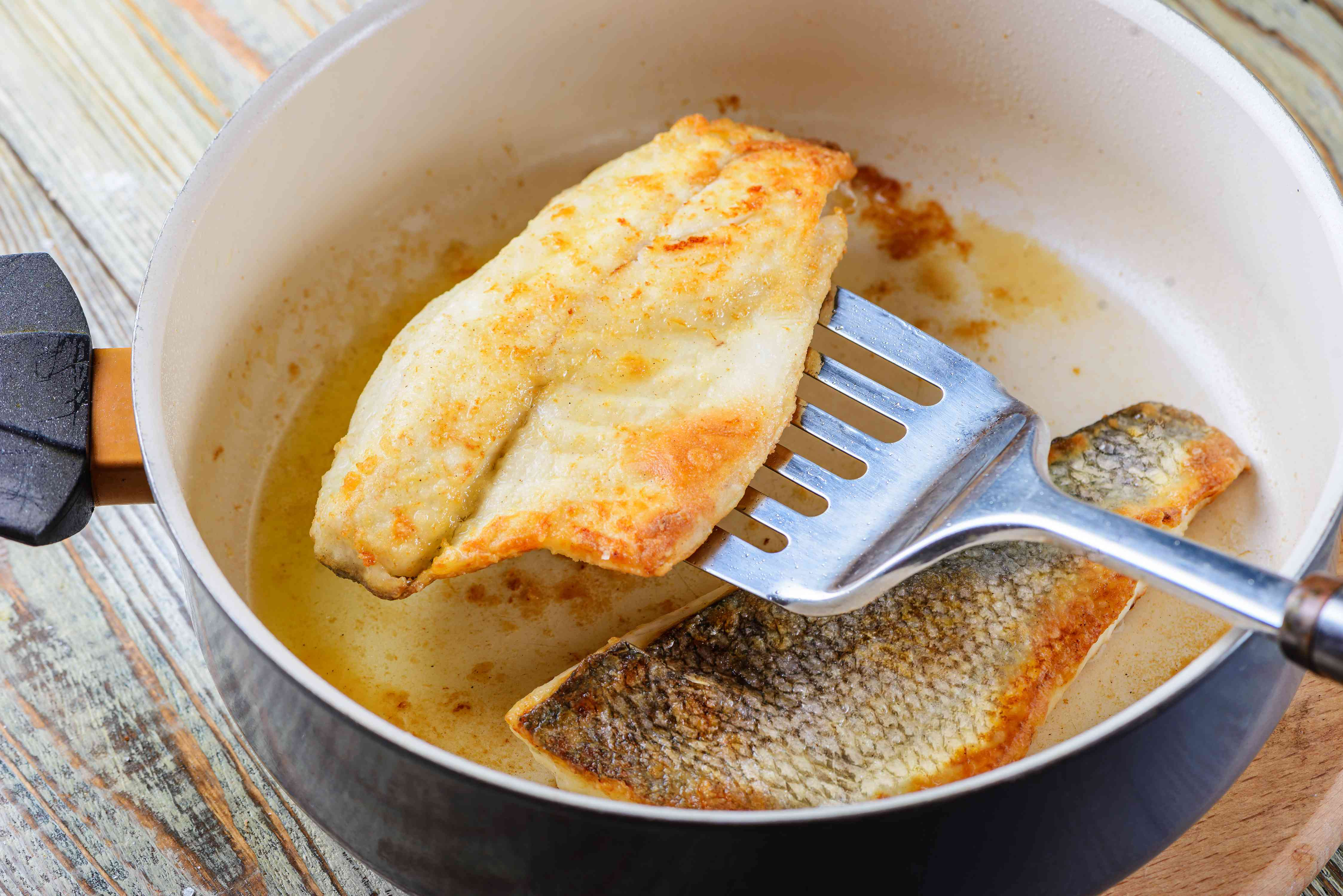 Place fillets in pan