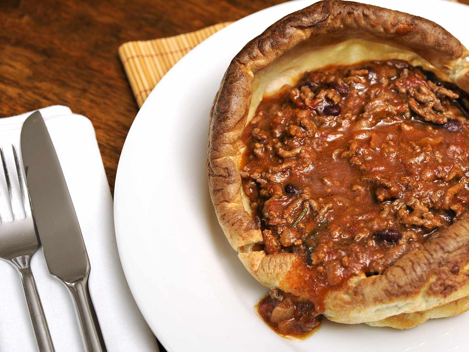 Chili Filled Yorkshire Pudding