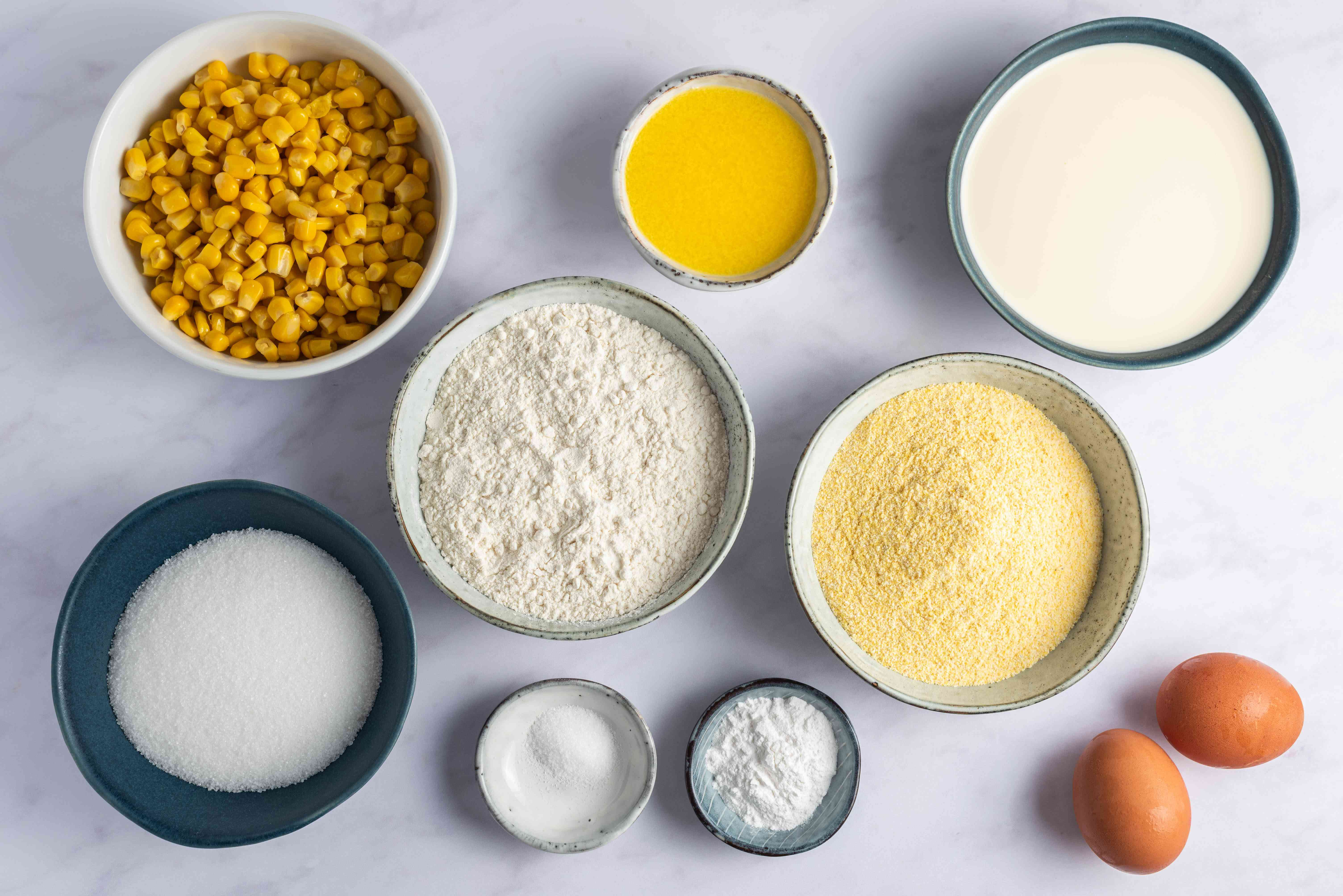 Ingredients for corn bread