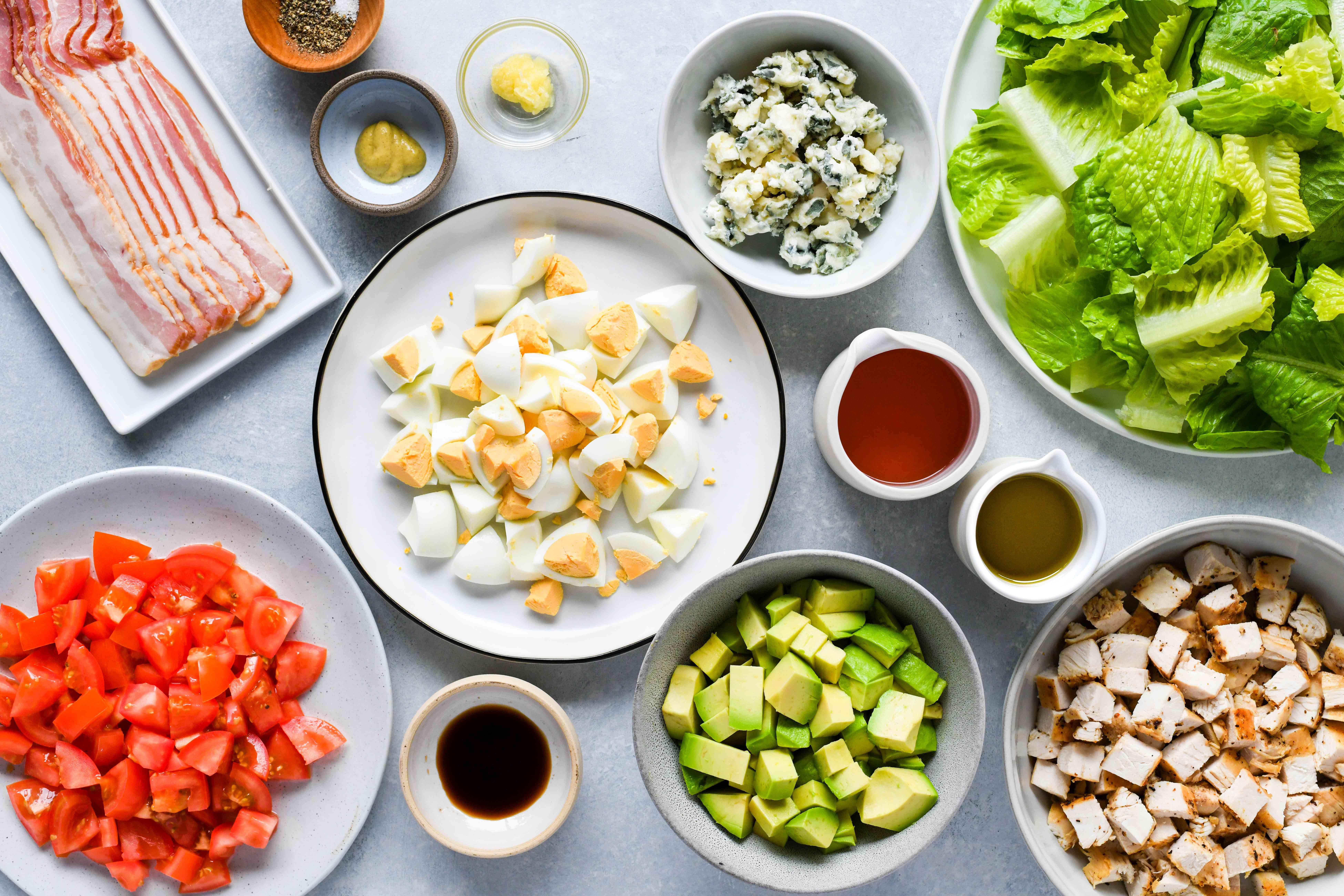 Classic Cobb Salad ingredients