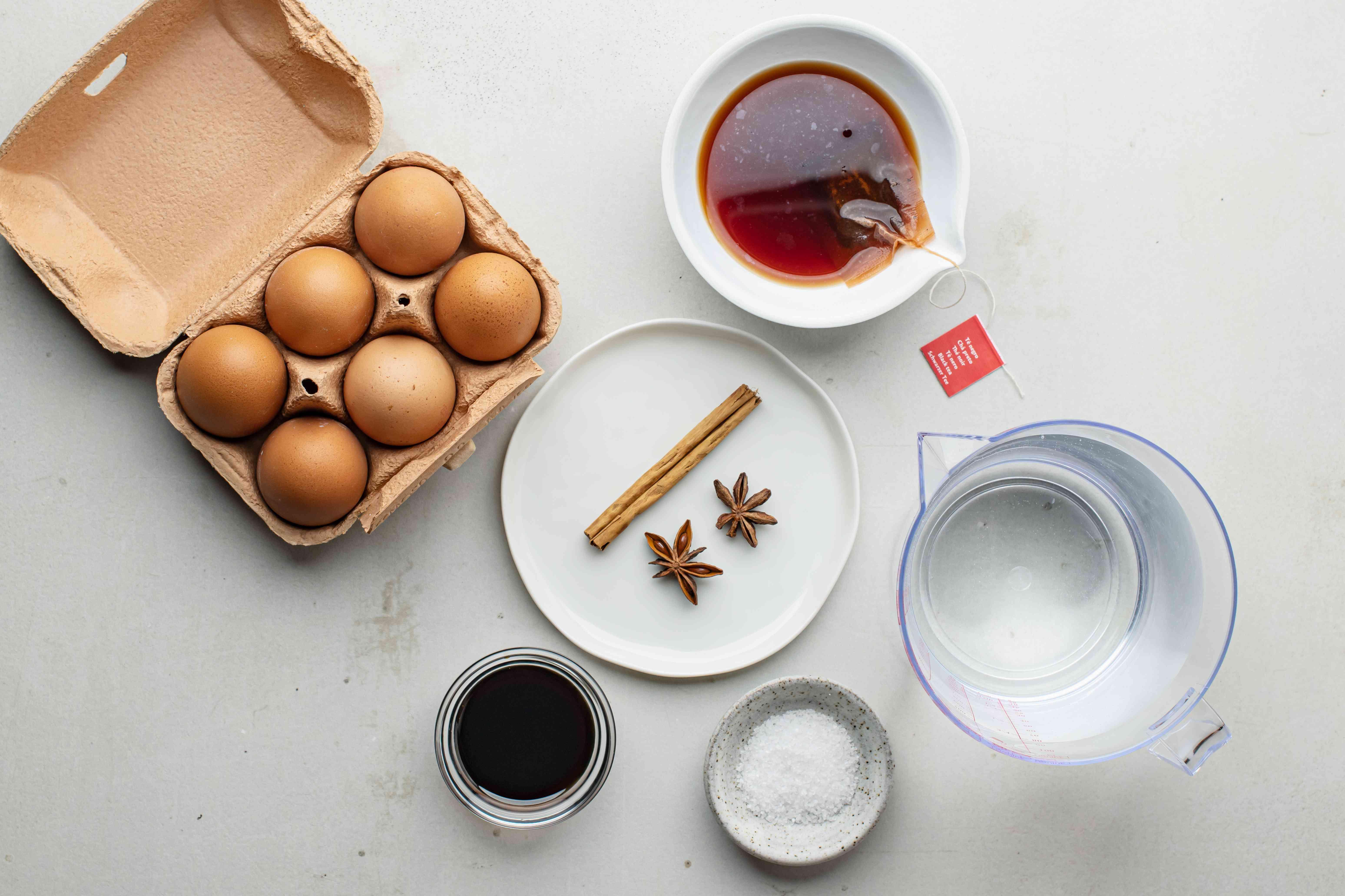 Ingredients Chinese tea eggs