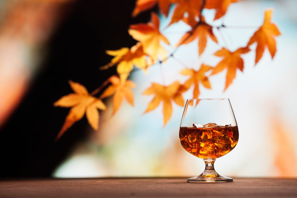 A Glass of Whiskey on an Autumn Day
