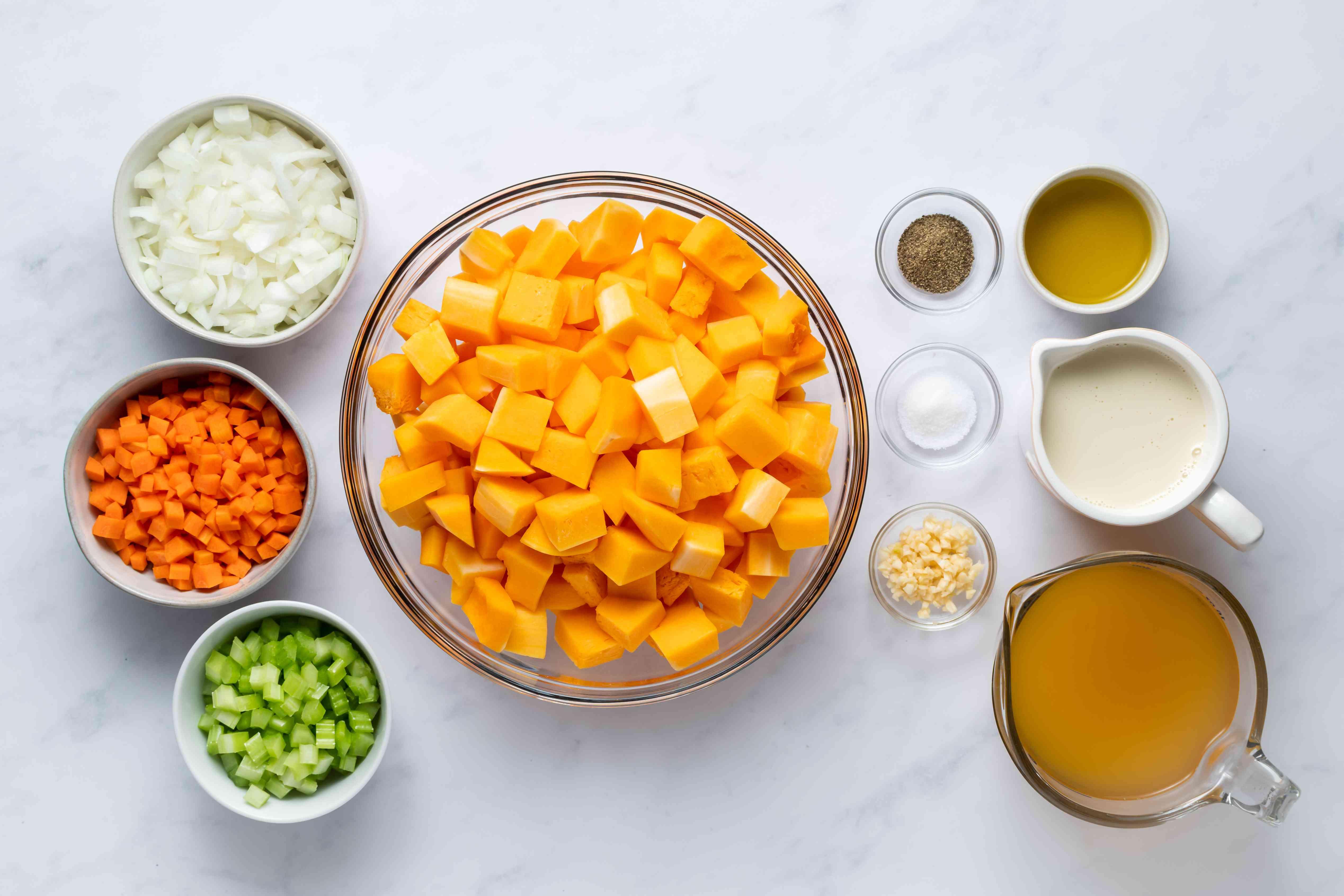 Butternut squash soup ingredients