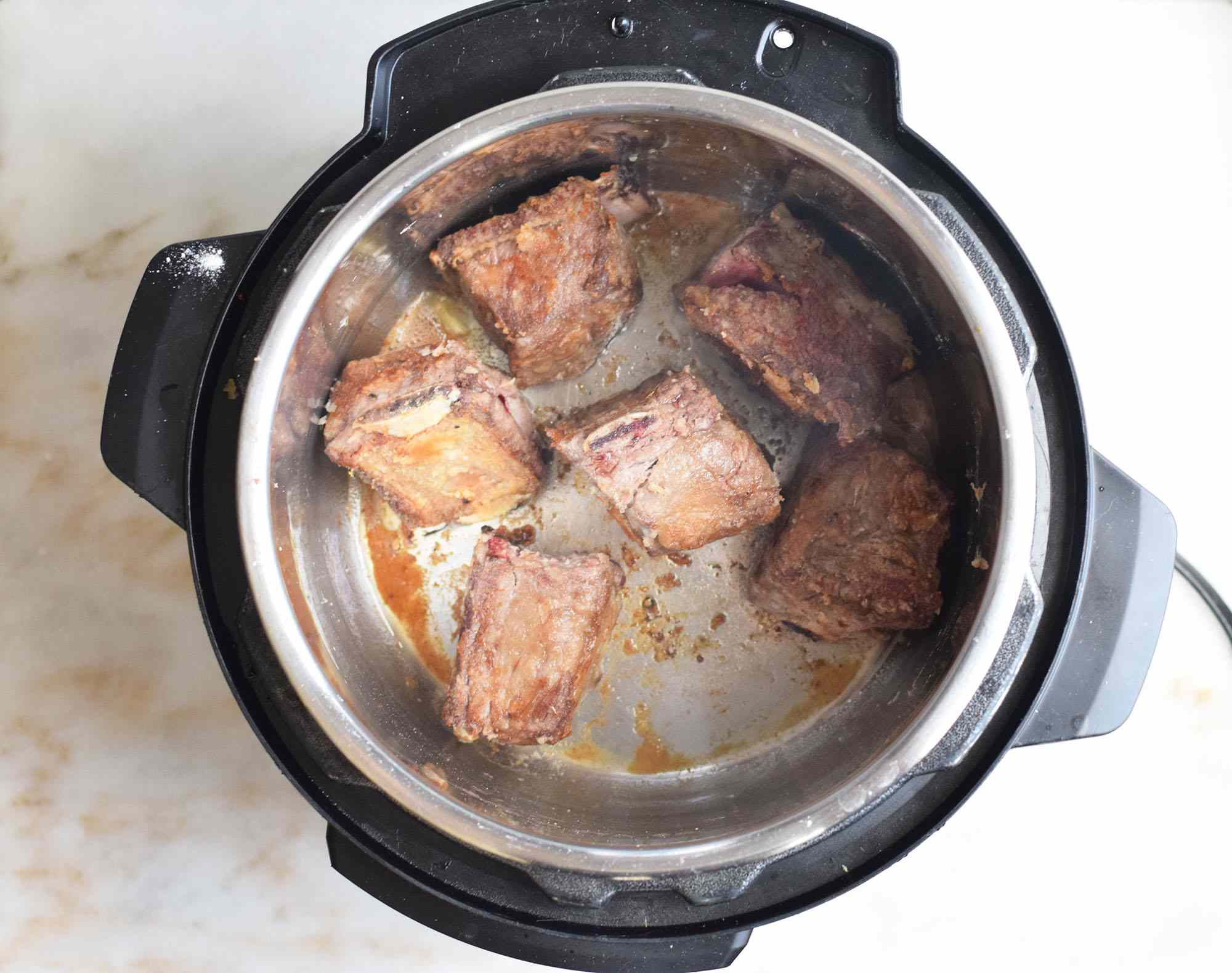 Seared short ribs in an Instant Pot