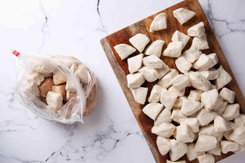 coat the biscuits in cinnamon sugar