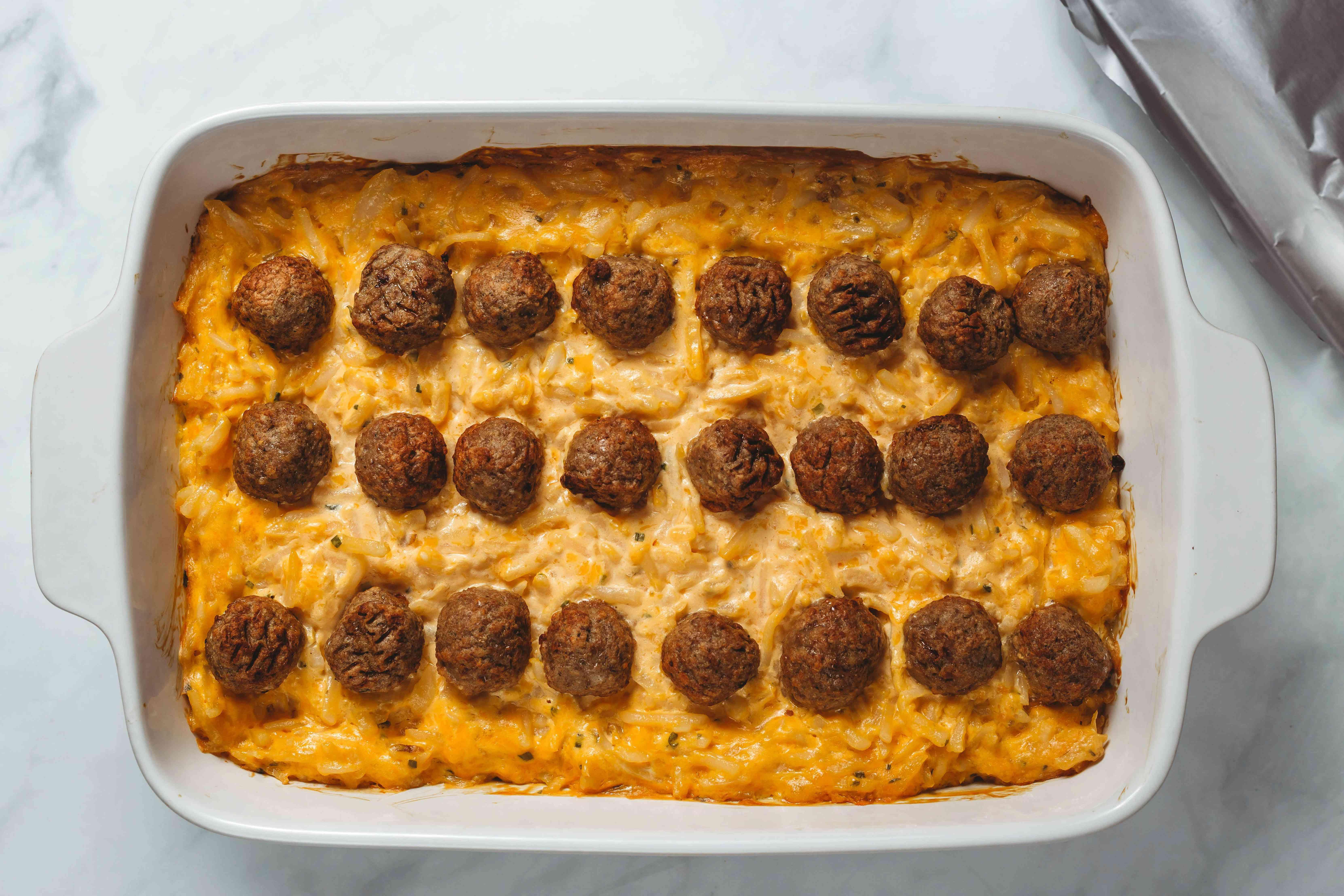 baked Meaty Hash Brown Potato Casserole