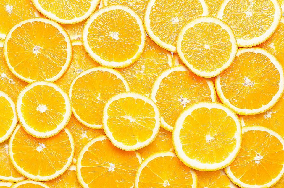 Full Frame Shot of Orange Slices