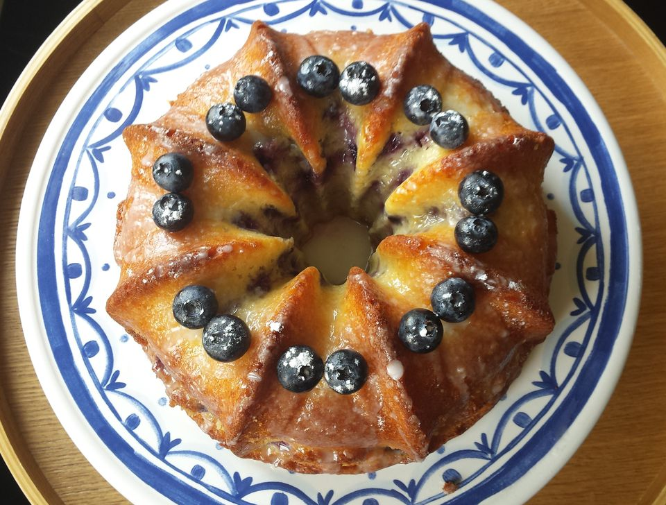 Lemon-Blueberry Quark Cake