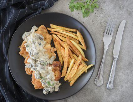 Jaegerschnitzel with mushroom sauce recipe