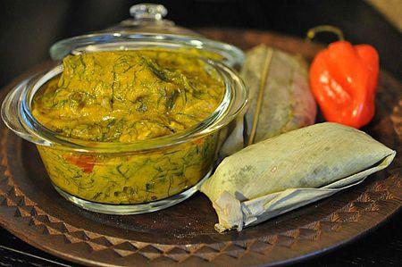 Fumbwa Recipe (Congolese Wild Spinach Stew)