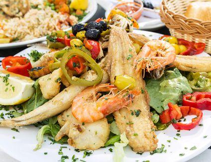 Moroccan seafood dish