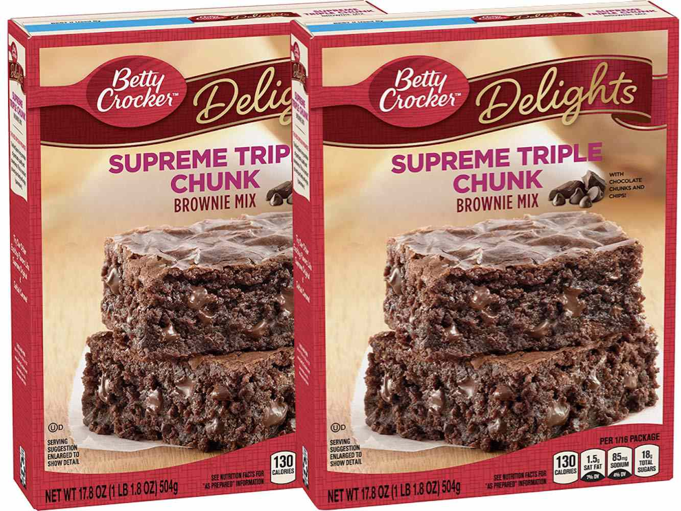 Betty Crocker Delights Triple Chunk Supreme Brownie Mix (Two-Pack)